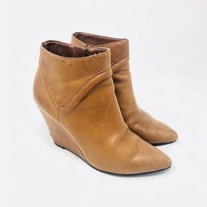 "Seychelles ""Won't Wait"" Leather Wedge Booties"